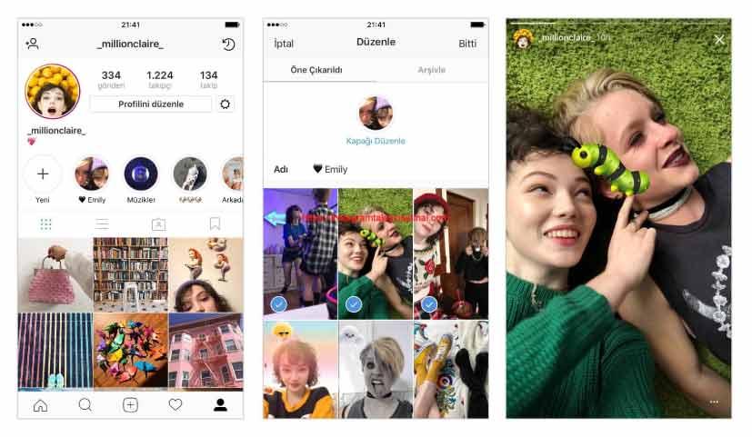 Instagram hikayelerini öne çıkarma ve arşivleme nasıl yapılır